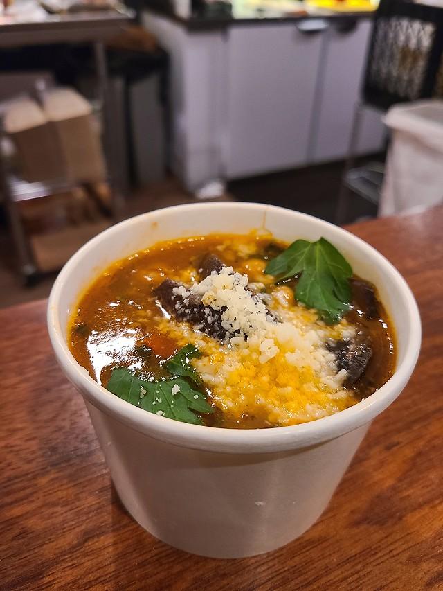Minestrone Soup at BODEGA. - PHOTO BY VINCE PRESS