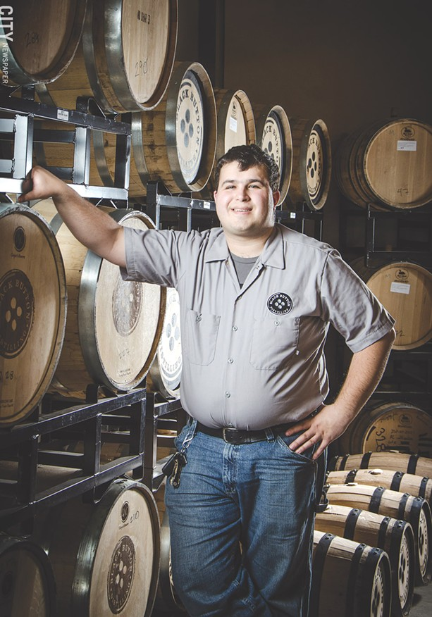 Jason Barrett named his distillery after his family's button factory. - PHOTO BY MARK CHAMBERLIN