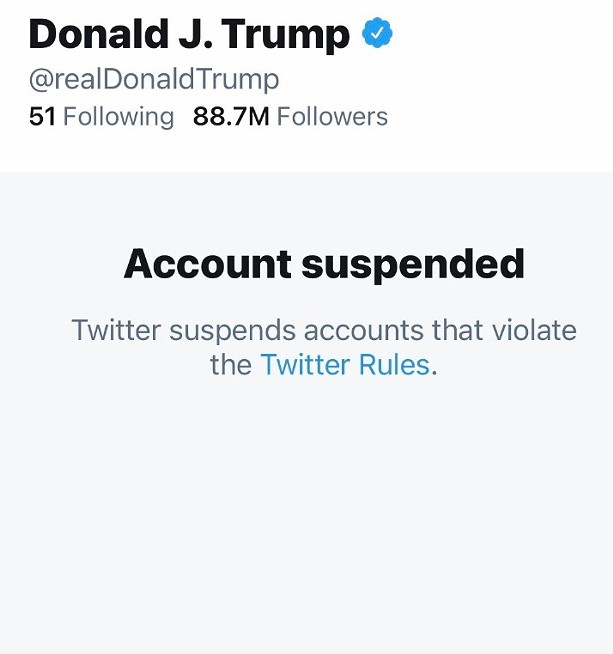 Twitter, President Donald Trump's preferred social media platform, has permanently banned his account.