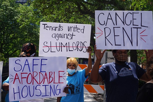 During the pandemic, activists and tenants have asked the state to provide stronger protections against eviction. - PHOTO BY GINO FANELLI