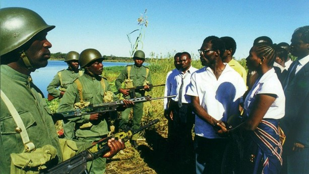 """A scene from the 2000 film, """"Lumumba,"""" about Congolese independence leader Patrice Lumumba. - PHOTO COURTESY ALAMY"""