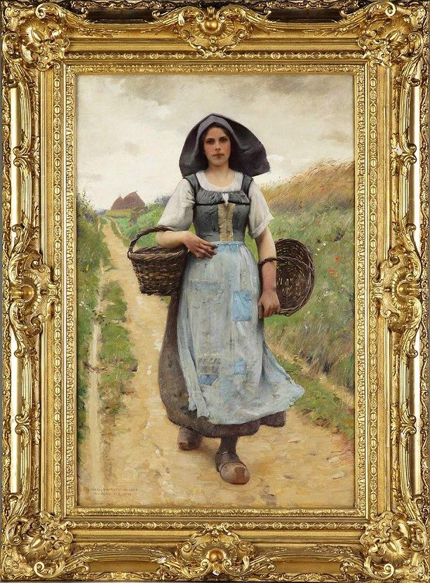 "Boston painter Charles Sprague Pearce's ""A Peasant Girl,"" once held by the Rochester Historical Society, was sold and fetched $63,500 at auction. - PHOTO PROVIDED"