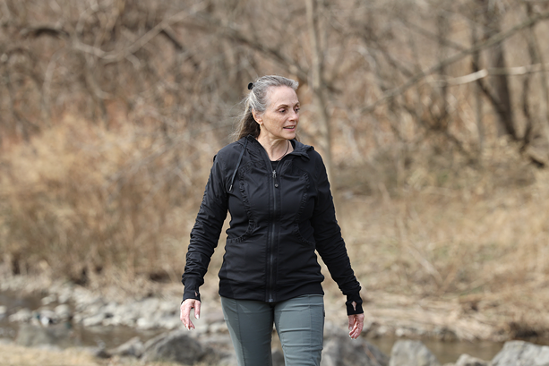 Kathie Gansemer uses breathing exercises to incorporate mindfulness into her nature walks. - PHOTO BY MAX SCHULTE