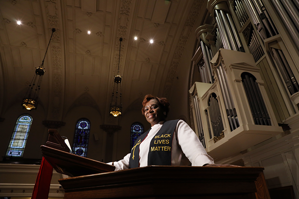 Rev. Myra Brown, pastor of Spiritus Christi Church, in Rochester. Rev. Brown was active in helping protect protesters' right to demonstrate during calls for justice the summer after the death of Daniel Prude. - PHOTO BY MAX SCHULTE
