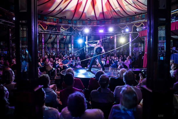 """""""Cirque du Fringe: D'Illusion"""" was one of the 2019 Fringe-curated shows. - PHOTO BY AARON WINTERS"""