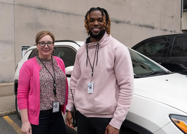 Social workers Renee Brean  and Dré Johnson are part of the city of Rochester's new Person in Crisis Team. - PHOTO BY JACOB WALSH