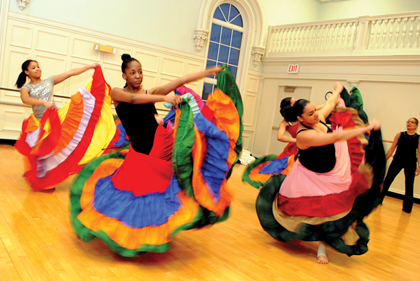 Performers with Borinquen Dance Theatre at a rehearsal. - FILE PHOTO