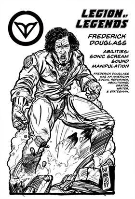 Frederick Douglass is a superhero in Shawn Dunwoody's artwork. - ARTWORK BY SHAWN DUNWOODY