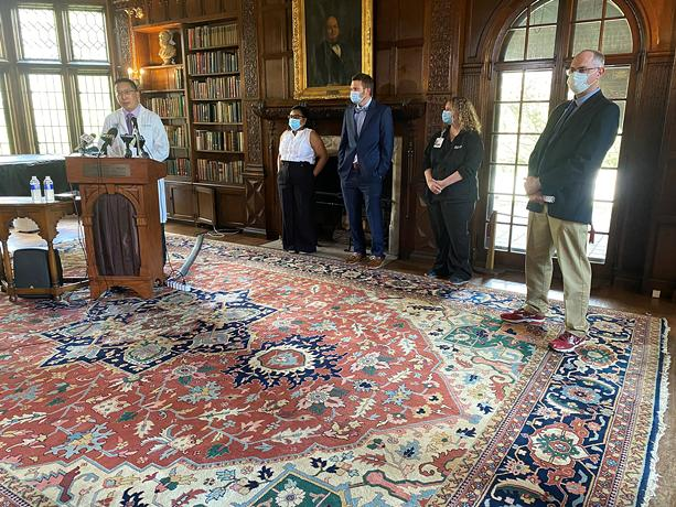 Monroe County Health Officials speak at press conference to address Pfizer Vaccine approval for ages 12 to 15. - PHOTO BY RACQUEL STEPHEN / WXXI NEWS