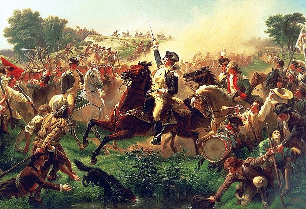 """""""Washington Rallying the Troops at Monmouth"""" by Emanuel Leutze - WIKIPEDIA"""