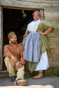 Historic interpreters Noah and Naomi with Not Your Momma's History at GCV&M in 2019. - PHOTO BY JOANN LONG