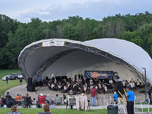 The Rochester Philharmonic Orchestra performed its first live concert in more than a year at Perinton Center Stage Amphitheater on Thursday, June 3, 2021. - PHOTO BY DANIEL J. KUSHNER
