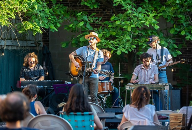 Ryan Yarmel and his band perform on the patio at Abilene Bar & Lounge on June 9, 2021. - PHOTO BY AARON WINTERS