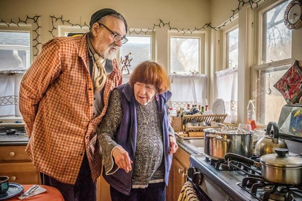 Charles Jaffe with Martha Heller at home in the South Wedge. - PHOTO BY JULIE GELFAND