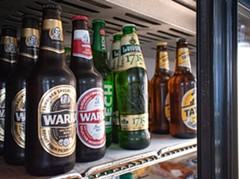 A selection of beers at Dybowski's Authentic Polish Market. - PHOTO BY JACOB WALSH