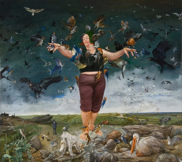 """""""Flying Lesson,"""" part of the the Mad Sally series of paintings by Joy Adams. - PHOTO PROVIDED"""