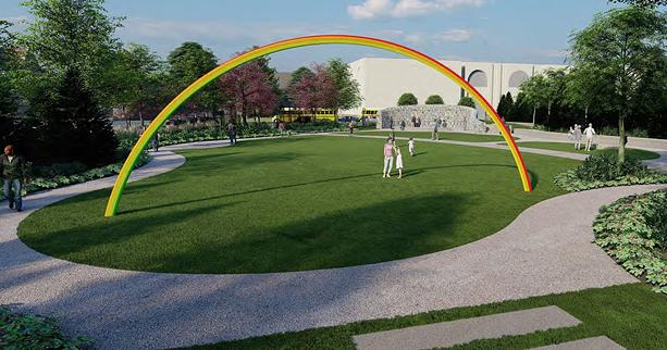 """The second phase of the Memorial Art Gallery's Centennial Sculpture Park will include """"Lover's Rainbow"""" by Pia Camil. - IMAGE COURTESY BAYER LANDSCAPE ARCHITECTURE, PLLC."""