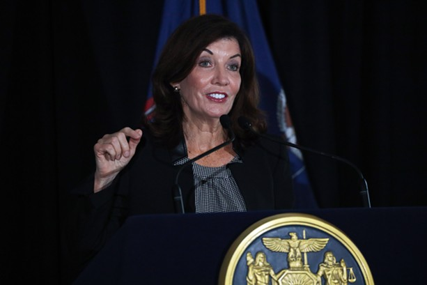 Gov. Kathy Hochul announced that the state would provide Constellation with $4 million in tax incentives in support of its move froom Victor to downtown Rochester. - PHOTO BY MAX SCHULTE