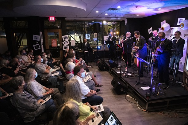 """Watkins & the Rapiers perform """"Singing Serling"""" at the Rochester Music Hall of Fame on Sept. 22, 2021 as part of the Rochester Fringe Festival. - PHOTO BY MATT BURKHARTT"""