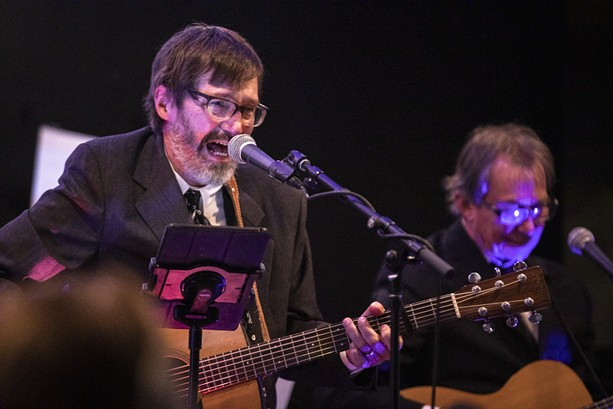 "Kerry and Scott Regan of Watkins & the Rapiers perform ""Singing Serling"" on Sept. 22, 2021 at Rochester Fringe Festival. - PHOTO BY MATT BURKHARTT"