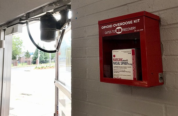 An emergency box containing Narcan, a drug which can stop an opiate overdose in its tracks. - FILE PHOTO