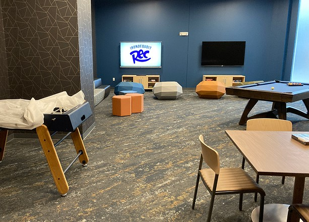 A game room is among the features of the new Irondequoit Community Center. - PHOTO BY JEREMY MOULE