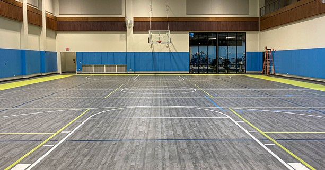 The new Irondequoit Community Center's basketball court. - PHOTO BY JEREMY MOULE