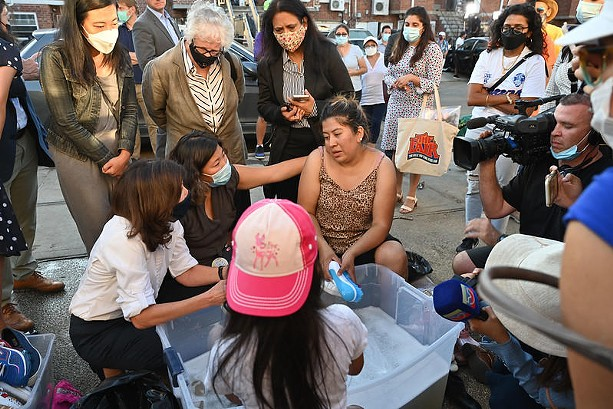 Gov. Kathy Hochul consoles survivors of Hurricane Ida. - PHOTO PROVIDED BY THE OFFICE OF GOV. KATHY HOCHUL