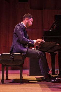 Pianist Emmet Cohen performed in Hatch Recital Hall on Friday, June 26. - PHOTO BY ASHELIGH DESKINS