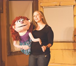 "Holly Lowden as Kate Monster in the OFC Creations production of ""Avenue Q,"" on stage through this weekend at the Kodak Center. - PHOTO BY NICOLAS SAMPER"