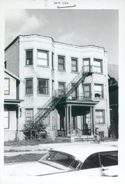 """The Corn Hill home Son House was living in during his time in Rochester. It was here that Dick Waterman, a photographer and promoter, """"rediscovered"""" House. - PHOTO BY DICK WATERMAN"""