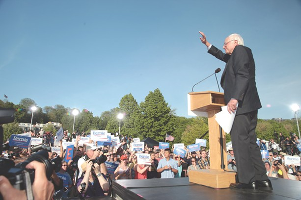 Sanders wins respect from moderates and even some conservatives, his supporters say, by abstaining from ideology. - PHOTO BY MATTHEW THORSEN