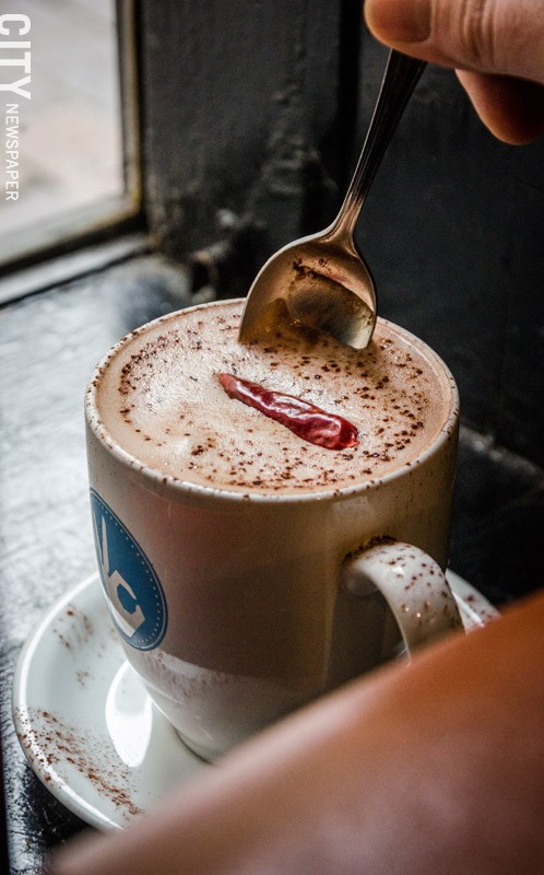 """The Aztec """"Mocha"""" at Java's adds cinnamon and chilies for a spicy kick. - PHOTO BY MARK CHAMBERLIN"""