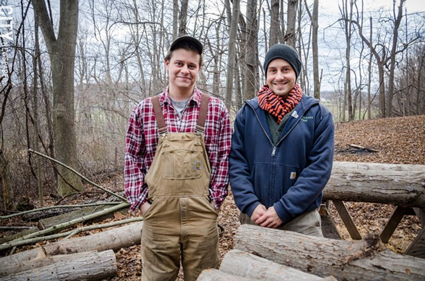 Abe and Noah Johnson started the Johnson Brothers Food Forest in 2013. - PHOTO BY MARK CHAMBERLIN