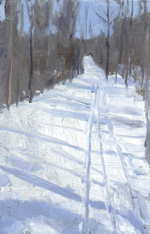 """Jim Mott, """"Ski Trail"""" - PHOTO PROVIDED"""