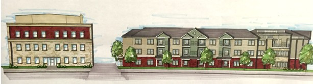 The Community on East Main would have 76 units. This is a rendering of the proposed building. - PROVIDED BY HOME LEASING