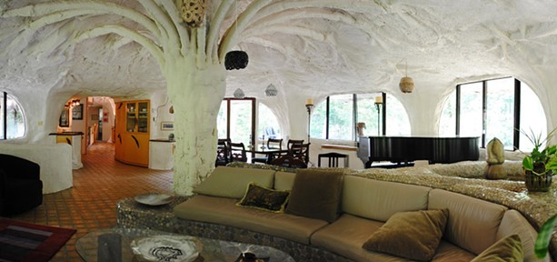 In the interior of the Mushroom House. - FILE PHOTO