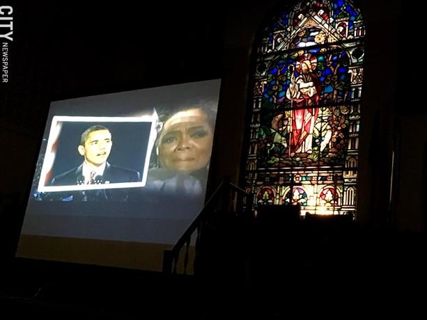 "Eison recently screened his film, ""Shadows of the Lynching Tree,"" at Trinity Emmanuel Presbyterian Church (pictured). - PHOTO PROVIDED"