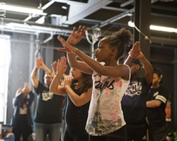 Dozens of young people participate in Battle for the ROC freestyle dance competitions that are held on Thursday evenings at rotating city recreation centers. - PHOTO BY JOSH SAUNDERS