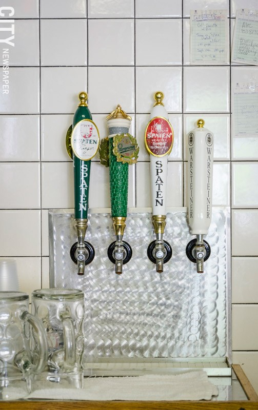 Classic German beers on tap at Swan Market. - PHOTO BY MARK CHAMBERLIN