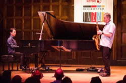 Makoto Ozone and Tommy Smith performed in Kilbourn Hall on Saturday as part of the 2016 Xerox Rochester International Jazz Festival. - PHOTO BY MARK CHAMBERLIN