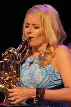 Lauren Sevian performed with her quartet at Max on Thursday night. - PHOTO BY FRANK DE BLASE