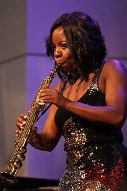 Tia Fuller performed at Max on Saturday. - PHOTO BY FRANK DE BLASE