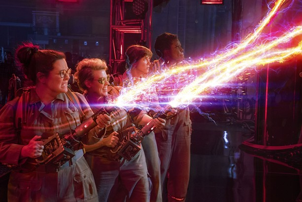 "Melissa McCarthy, Kate McKinnon, Kristen Wiig, and Leslie Jones in ""Ghostbusters."" - PHOTO COURTESY COLUMBIA PICTURES"