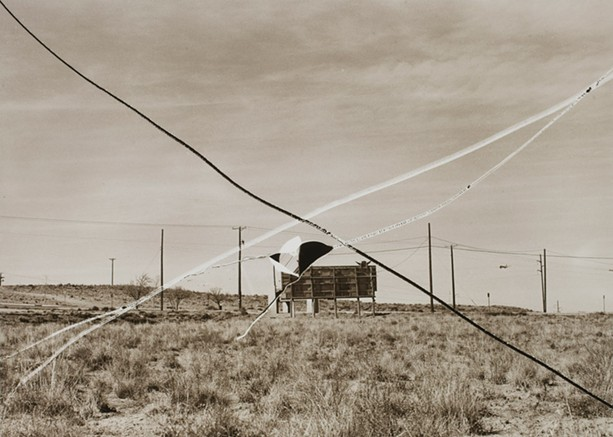 "Thomas F. Barrow's 1974 photo, ""Flight Field, Albuquerque,"" is part of ""Sight Reading: Photography and the Legible World,"" on view at George Eastman Museum. - PHOTO PROVIDED"