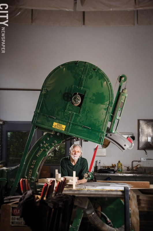 Wendell Castle in his studio. - PHOTO BY MARK CHAMBERLIN