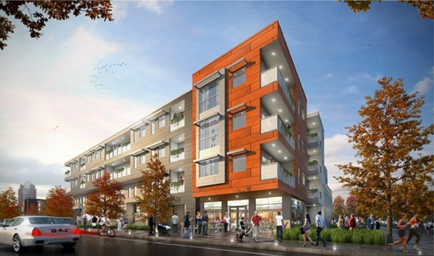 Home Leasing would develop 49 affordable housing units consisting of 45 apartments and four townhouses. - PROVIDED IMAGE