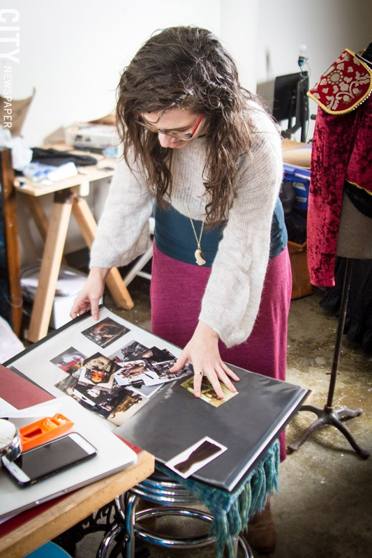 Virginia Monte in her studio space in Village Gate. - PHOTO BY KEVIN FULLER