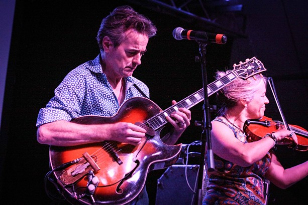 Hot Club of Cowtown played the Big Tent on Tuesday. - PHOTO BY FRANK DE BLASE