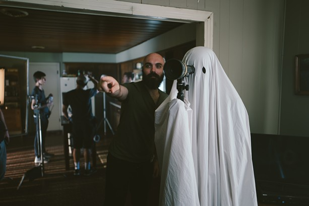 """David Lowery on the set of """"A Ghost Story."""" - PHOTO BY BRET BURRY, COURTESY OF A24"""